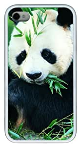 iphone 4S customizable case Panda TPU White for Apple iPhone 4/4S