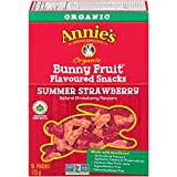 Annie's Homegrown Organic Summer Strawberry Bunny Fruit Snacks, 5-Count, 115 Gram