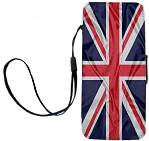 Rikki KnightTM Great Britain Flag Design iPhone Apple 5c PU Leather Wallet Type Flip Case with Magnetic Flap and Wristlet for Apple iPhone 5c