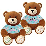 Zeta Tau Alpha ''Big Sister'' and ''Little Sister'' Bluetooth music-playing teddy bear gift set of 2