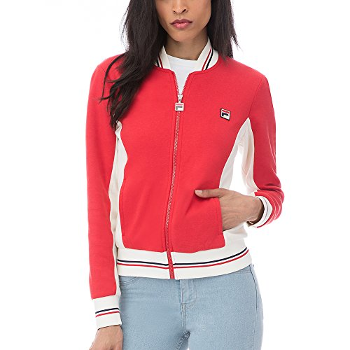 Fila Women's Settanta Jacket, Chinese Red, Gardenia, Peacoat, XL