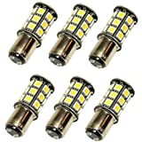 6 X N.R.G 1142 1076 68 BA15D Base 27 LED Omni-Directional Light Bulb 10-30v 12v / 24v 405 Lumens - Warm White