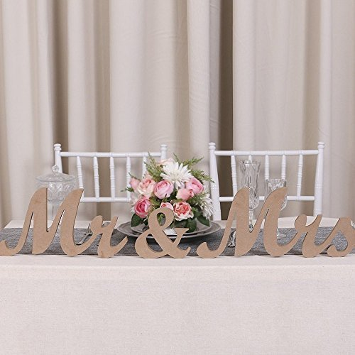 Wooden wedding signs amazon mr mrs letters sign vintage style wooden diy decor for wedding decoration large size 358 x 7 junglespirit Gallery