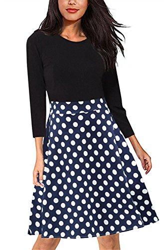lace polka dot dress - 8