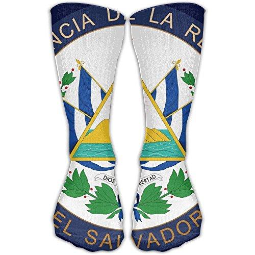 El Ladies Salvador (Seal of The President of El Salvador Men Women's Casual Athletic Stoking 11.8In Crew Long Socks)
