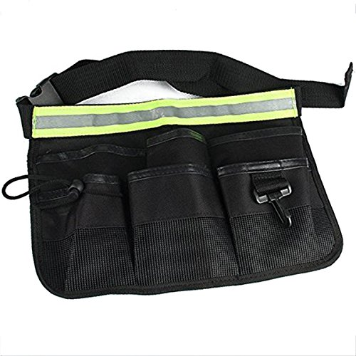 Agile-shop Waterproof 600D Oxford Tool Belt Waists Utility Pockets Apron with Adjustable Waist Strap - Black