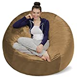 Sofa Sack - Plush Ultra Soft Bean Bags Chairs for Kids, Teens, Adults - Memory Foam Beanless Bag Chair with Microsuede Cover - Foam Filled Furniture for Dorm Room - Cocoa 5'