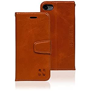 Anti Radiation RFID iPhone Case: iPhone 7 ELF & RF Blocking Identity Theft Protection Wallet (Leather)