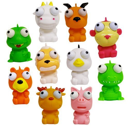 Cute Squishies Animal Eye Poppers Set of 10