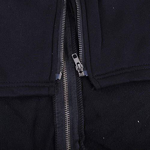 Con Lunga Monocromo Marca Outdoor Bolawoo Anteriori Cappotti Elegante Cappuccio Invernali Tasche Accogliente Donna Casual Mantello Manica Cerniera Coulisse Schwarz Giubotto Mode Jacket Di PPt7wzxqa