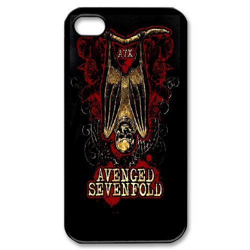 Avenged Sevenfold Phone Case And One Free Tempered-Glass Screen Protector For iPhone 4,4S T97882