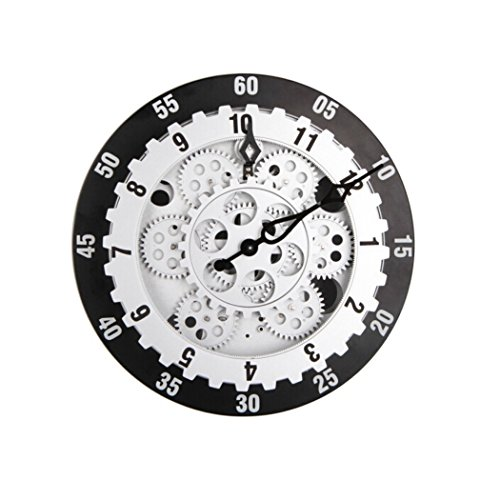 WoneNice 12 Inchs Gear Wall Clocks, Art Deco Clocks, Large Clocks for Living Room(G065)