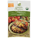 Simply Organic Taco Seasoning Mix Seasoning Mixes, French/English, 32 gm