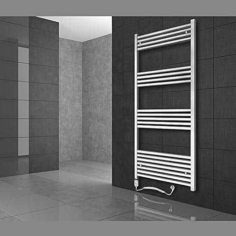 Radiador toallero 400 x 800 mm Radiador de diseño Secador de toallas con Elemento de calefacción