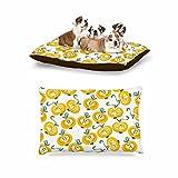 KESS InHouse Maria Bazarova ''Apple'' Yellow Food Dog Bed, 30'' x 40''