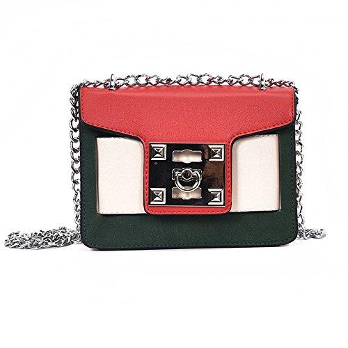 Color Hombro Lock Bolsa Pequeño gules incense Xiekua De Khaki Personalidad Woman Hombro Bolso De Paquete xqfAIan