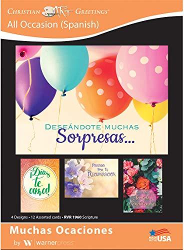 - Muchas Ocaciones - All Occasion Greeting Cards(Spanish) - RVR Scripture - (Box of 12)