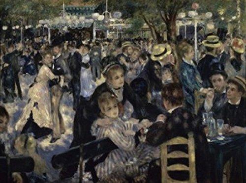 Posterazzi Ball at the Moulin de la Galette Montmartre 1876 Pierre-Auguste Renoir (1841-1919/French) Musee d'Orsay Paris Poster Print (24 x 36) (Auguste Renoir Moulin De La Galette 1876)