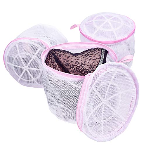 (Scientific Bra Laundry Bags for Bras, TANTAI Healthy Women Wash Mesh Bag for Delicates - Double Roof Bracket Structure Design - For Adult and Baby Lingerie ,Knickers,Socks and Underwear ( 3 Pack ) )