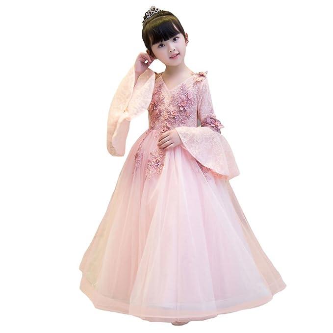 LSERVER Elegante vestido agradable de nina de boda, fiesta o noche ...
