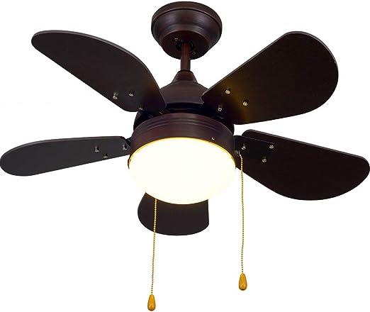 Luz del ventilador de techo LED18w Dormitorio Sala Comedor Madera ...