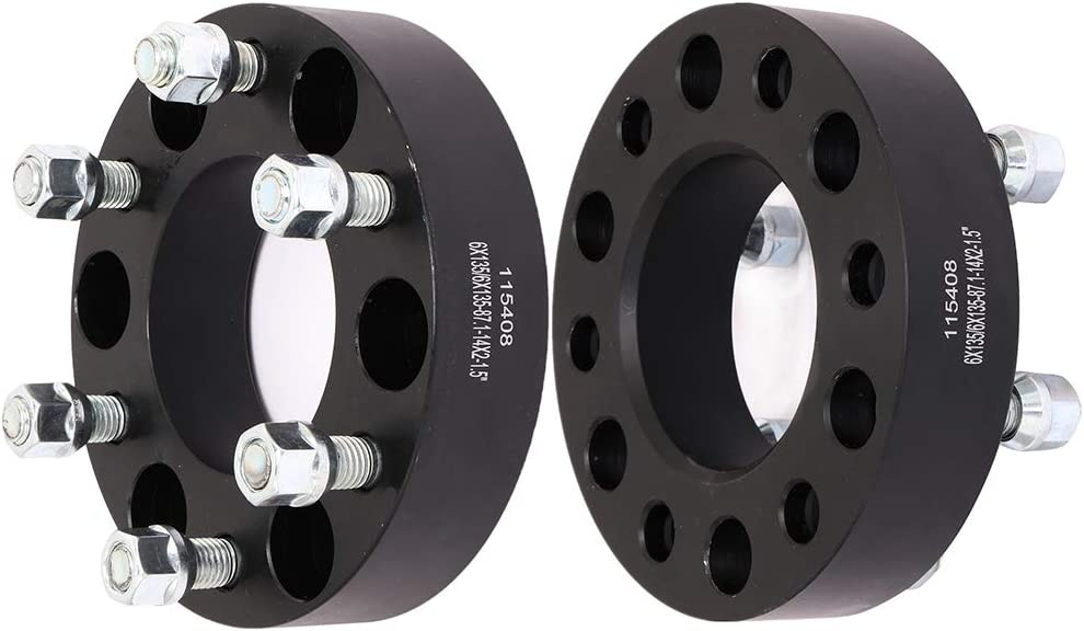 """ECCPP 6 Lug 1.5"""" Wheel Spacers Adapters 6x135mm to 6x135mm 87.1mm 14x2 Studs fits for Ford Expedition Lincoln Mark LT Lincoln Navigator with 14x2 Studs"""