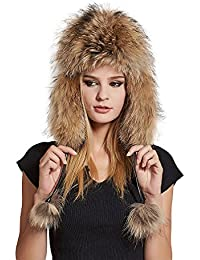 3e0c6368d82 Trapper Hat with Sheep Leather Earmuffs Warm Winter Fur Bomber Hat