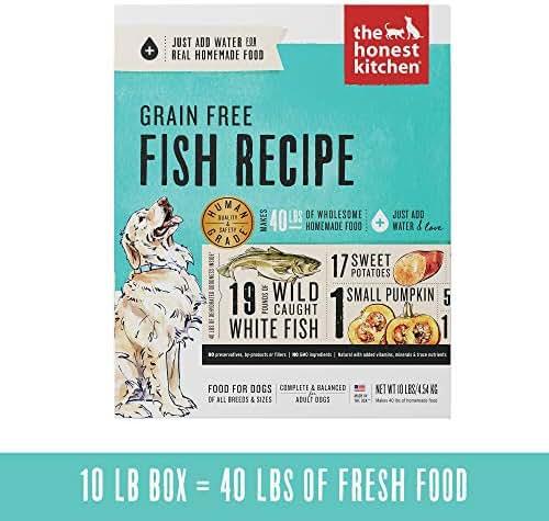 Honest Kitchen Human Grade Dehydrated Grain Free Fish Dog Food 10 lb - Zeal