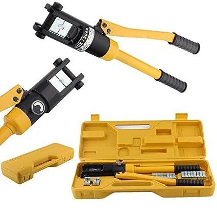 FIXKIT Crimpadora Hidráulica Herramienta Prensa para Cables Alicate 10 -300 mm² Presión de Crimpado 16