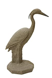 """EMSCO Group Great Heron Statue – Natural Sandstone Appearance – Made of Resin – Lightweight – 31"""" Height"""