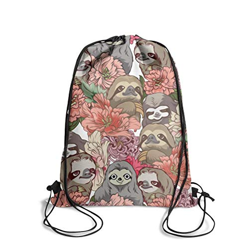 Best Limited edition adjustable Drawstring Bag -Because Sloths Style for Hiking Yoga Gym Travel Beach -