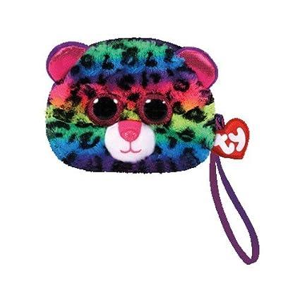 f14e97a5da3 Amazon.com  TY Gear Beanie Boos DOTTY the Rainbow Leopard Wristlet Coin  Purse with Strap  Toys   Games