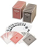 Diamond Playing Cards: 12 Decks (6 Red, 6 Black) Poker Size Large Index Plastic Coated Playing Cards by Da Vinci, Made In Taiwan