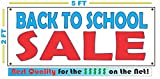 BACK TO SCHOOL SALE All Weather Full Color Banner Sign