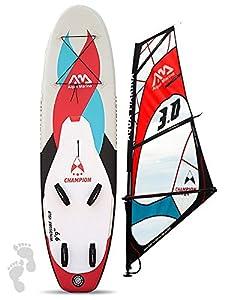Champion (9FT 9in/3m) Windsurf aufblasbares Stand Up Paddle Board SUP Blau...
