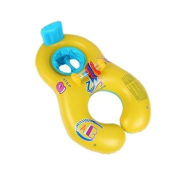 Piscina inflable juguete, Flotador de natación para bebés, Madre Infante Niño Piscina asiento del flotador del barco Anillo Raft Juguete Inflable para ...