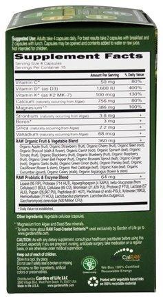 Garden of Life - Vitamin Code RAW Calcium - 60 Vegetarian Ca