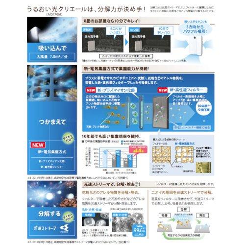 ダイキン(DAIKIN) 加湿空気清浄機「うるおい光クリエール」 ビターブラウン ACK70M-T