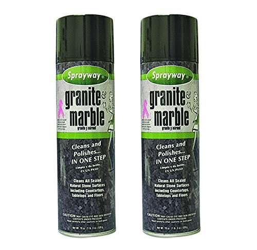 2-Pack Sprayway Granite And Marble Cleaner Cleans and Shines Granite in One Step, 19oz by Sprayway