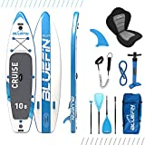 Bluefin SUP Stand Up Inflatable Paddle Board with Kayak Conversion Kit | Ultimate iSUP Kayak Bundle (Blue 10'8