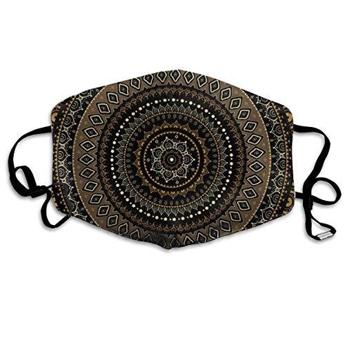 COMputer998 Mandala Indian Decorative Face Mask Dust Mask Anti Pollution Unisex Mouth Mask,Washed Reusable Polyester Face Mask,Can Be Repeatedly Used