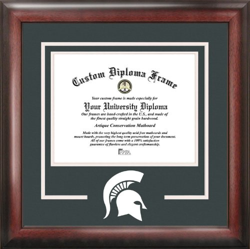 Campus Images NCAA Michigan State Spartans Spirit Diploma Frame, 8.5 x 11, Mahogany