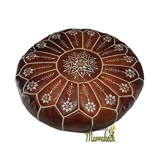 bohemiamarrakech Pouf Brown Moroccan Leather Pouf, Moroccan Pouf, Berber Pouf, Ottoman Pouf, Moroccan Ottoman Leather Pouf -UNSTUFED