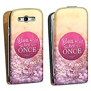 Diseño para Samsung Galaxy S3 i9300 / LTE i9305 DesignTasche black - You Only Live Once