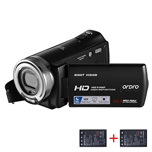 ORDRO HD Camcorder 1080P 30FPS 20MP Infrared Night Vision Digital Video Camera by ORDRO (Image #7)