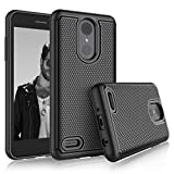 lg 2 phone accessories - LG Aristo 2 Case, LG Tribute Dynasty/Fortune 2/Zone 4/Risio 3 Sturdy Cases, Tekcoo [Tmajor] Shock Absorbing [Black] Rubber Silicone & Plastic Scratch Resistant Hard Bumper Cover for LG K8 2018