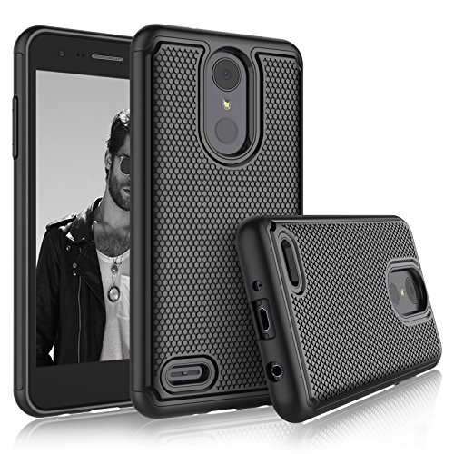 Price comparison product image LG Aristo 2 Case,  LG Tribute Dynasty / Fortune 2 / Zone 4 / Risio 3 Sturdy Cases,  Tekcoo [Tmajor] Shock Absorbing [Black] Rubber Silicone & Plastic Scratch Resistant Hard Bumper Cover for LG K8 2018