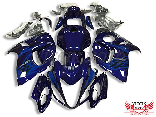 VITCIK (Fairing Kits Fit for Suzuki GSXR1300 GSX-R 1300 GSXR 1300 Hayabusa 2008-2015 Plastic ABS Injection Mold Complete Motorcycle Body Aftermarket Bodywork Frame (Blue) A052