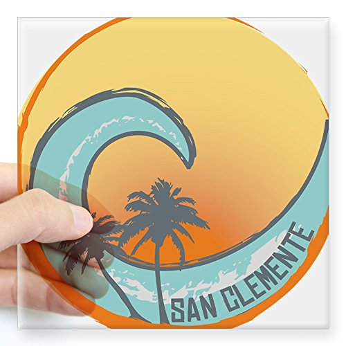 CafePress - San Clemente Sunset Crest Sticker - Square Bumper Sticker Car Decal, 3