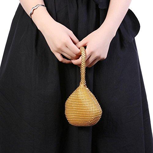 Diamond Fashion Gold akaddy purse Handbag Evening Purse Women Rhinestone Clutch wpIqXnS